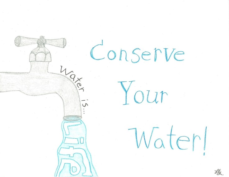 Conserve Your Water Drawing