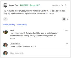 Comment to Alexus